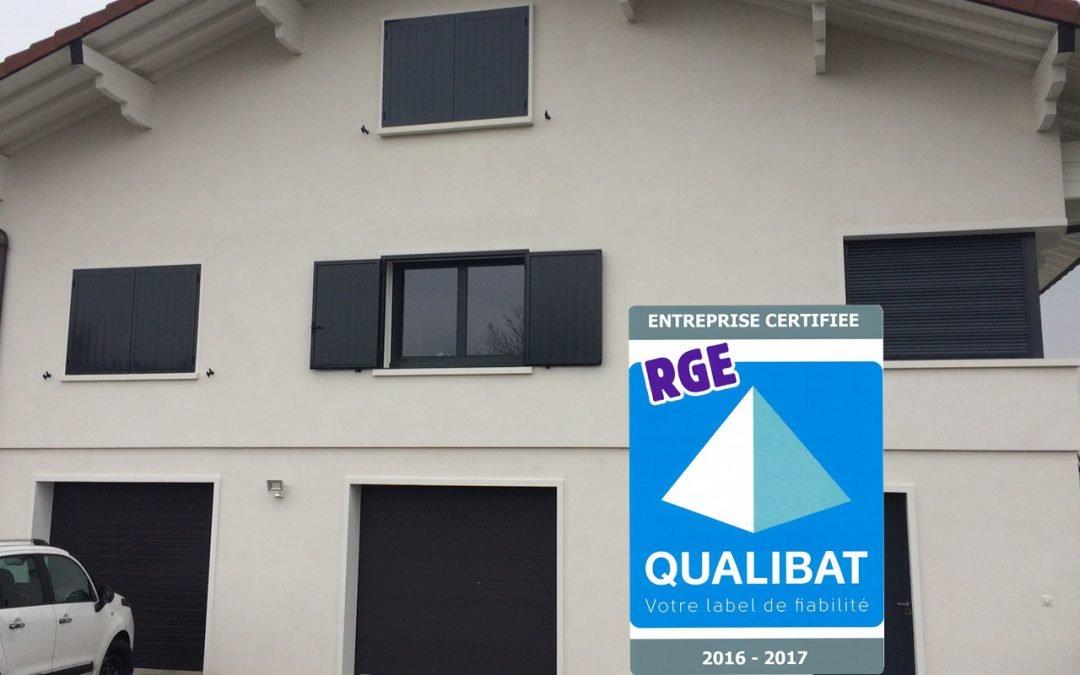 Aluglass est certifié Qualibat RGE